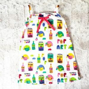 Lourdes Tomato Soup Dress | 4Y